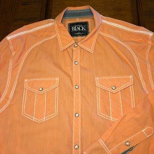Buckle Black orange shirt stitching XL